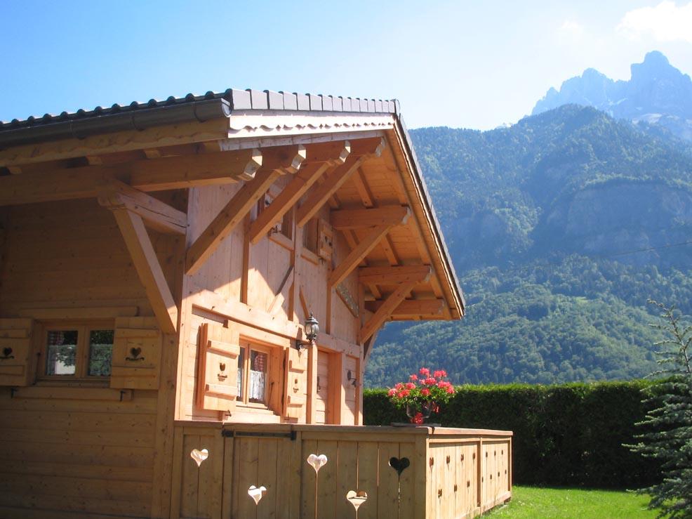 Maison chalet sallanches pays du mont blanc chalet - Petit chalet en bois habitable ...