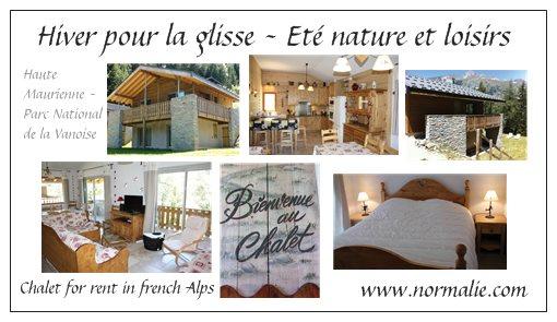 Carte De Visite Du Chalet Normalie