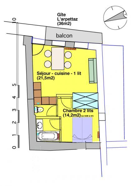 Gite aigueblanche moutiers l 39 arpettaz lc1441 for Aigueblanche piscine
