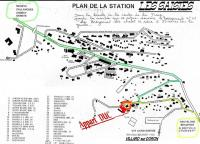 plan de situation du chalet