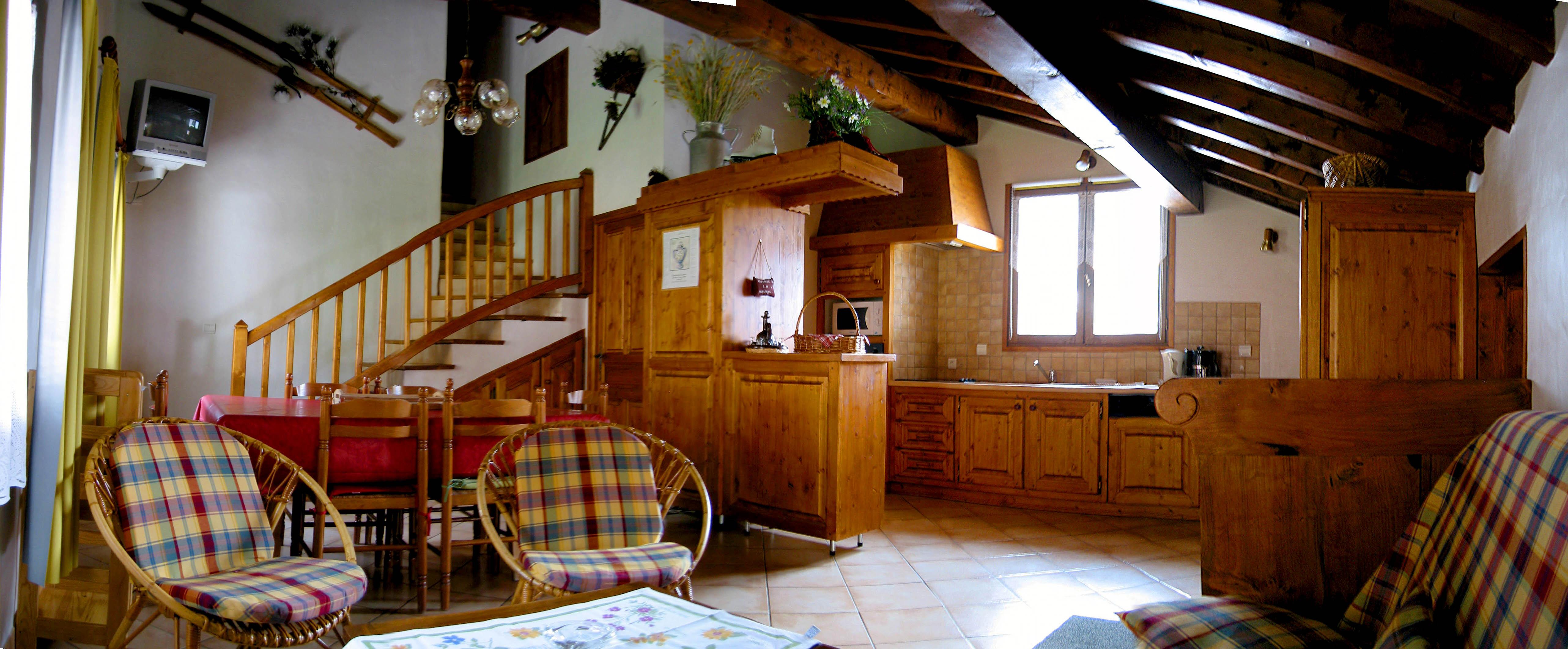 Appartement champagny en vanoise paradiski la plagne - Cuisine chalet montagne ...